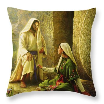 Throw Pillow featuring the painting He Is Risen by Greg Olsen