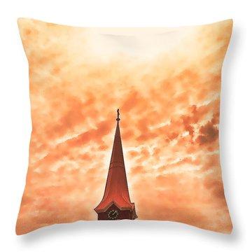 He Is Risen Throw Pillow by Susan Crossman Buscho