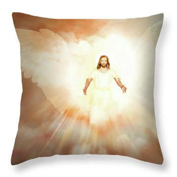 Throw Pillow featuring the painting  He Is Risen by Valerie Anne Kelly