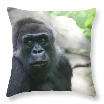 He Is Watching Throw Pillow by Karol Livote