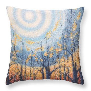 Throw Pillow featuring the painting He Lights The Way In The Darkness by Holly Carmichael