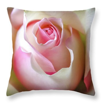 Throw Pillow featuring the photograph He Loves Me Still by Karen Wiles