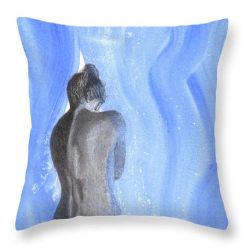 He Parts The Veil Throw Pillow
