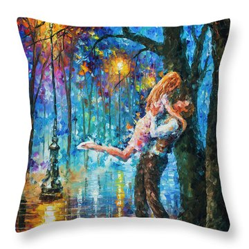 He Proposal  Throw Pillow by Leonid Afremov
