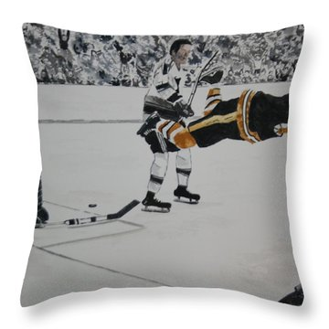 He Scores Throw Pillow