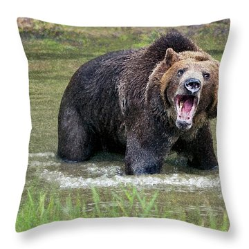 He Speaks Throw Pillow