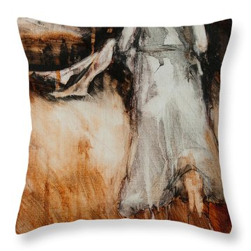 He Walks With Me Throw Pillow by Jani Freimann