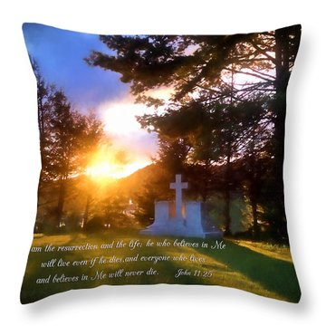 He Who Believes Will Never Die Throw Pillow