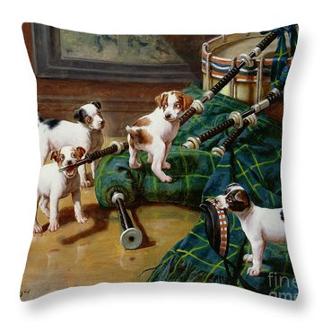 He Who Pays The Piper Calls The Tune Throw Pillow