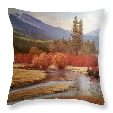 He Who Would Be King Throw Pillow