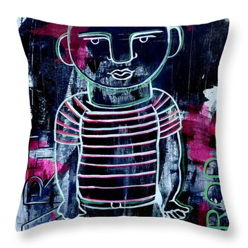 He Wore Stripes Throw Pillow