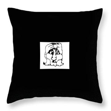 Head #2 Throw Pillow