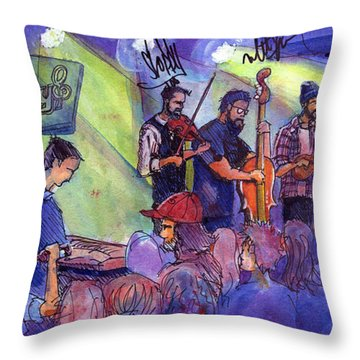 Head For The Hills At Barkley Ballroom Throw Pillow by David Sockrider
