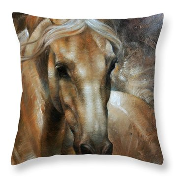 Head Horse 2 Throw Pillow by Arthur Braginsky