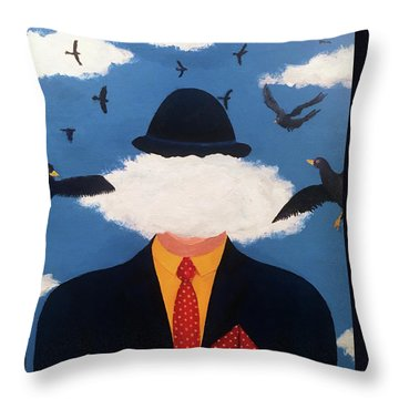 Head In The Cloud Throw Pillow by Thomas Blood