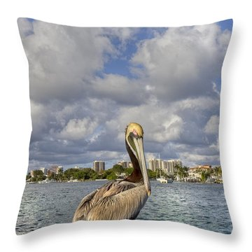 Head In The Clouds Throw Pillow by Debra and Dave Vanderlaan