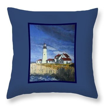 Head Lighthouse  Throw Pillow