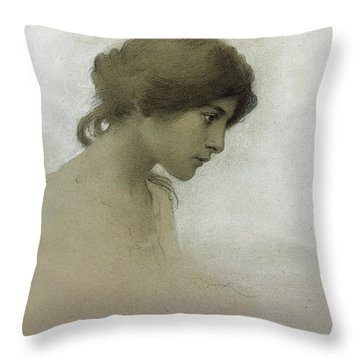 Lady Drawings Throw Pillows