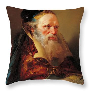 Head Of A Philosopher Throw Pillow