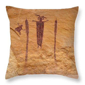 Head Of Sinbad Pictograph Throw Pillow