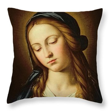 Head Of The Madonna Throw Pillow by Il Sassoferrato
