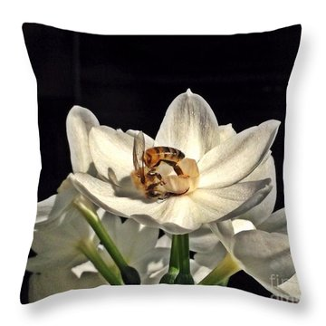 Head Over Heels For Narcissus Throw Pillow