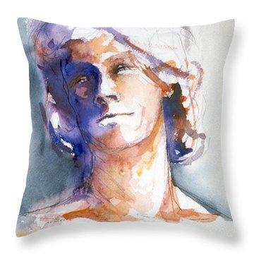 Head Study 1 Throw Pillow