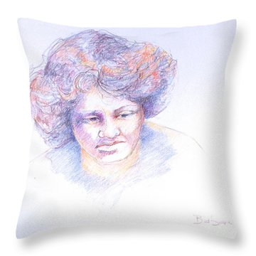Head Study 4 Throw Pillow