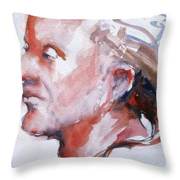 Head Study 5 Throw Pillow