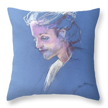 Head Study 6 Throw Pillow