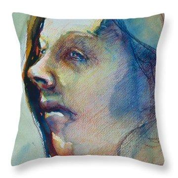 Head Study 7 Throw Pillow
