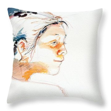 Head Study 9 Throw Pillow