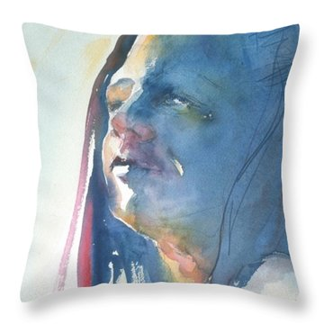 Head Study8 Throw Pillow
