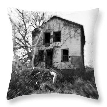 Headache Throw Pillow by Amanda Barcon
