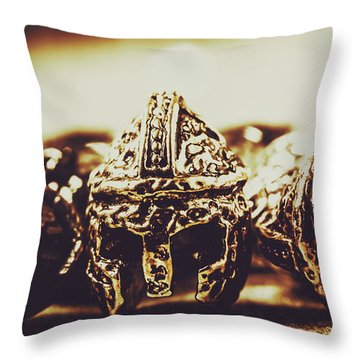 Headdress Of Medieval Antiquity Throw Pillow