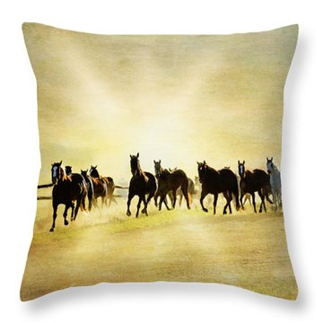Headed Home Ll Throw Pillow