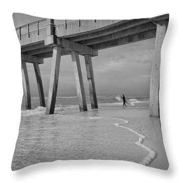 Throw Pillow featuring the photograph Headed Out by Renee Hardison