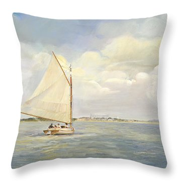 Heading East Throw Pillow