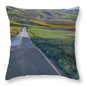 Heading For The Hills Throw Pillow