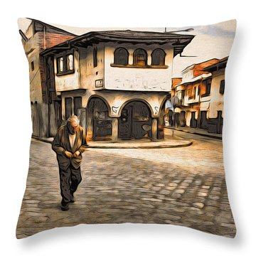 Heading Home Alone Throw Pillow
