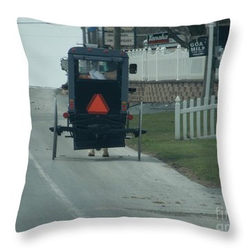 Heading Home From The Store Throw Pillow