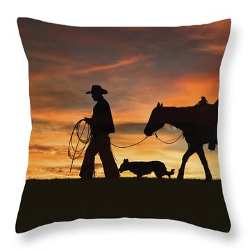 Heading Home Throw Pillow
