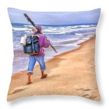 Heading Home - Ocean Fisherman Throw Pillow