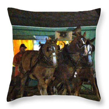 Heading Into The Ring Throw Pillow by RC deWinter