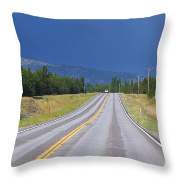 Heading Into The Storm Throw Pillow