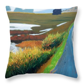 Throw Pillow featuring the painting Heading North by Gary Coleman