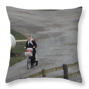 Heading Off To School Throw Pillow