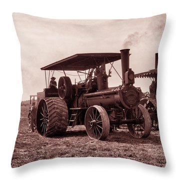 Heading Out Antiqued Throw Pillow