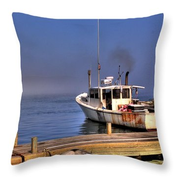 Throw Pillow featuring the photograph Heading Out To Sea by Greg DeBeck