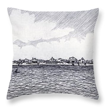 Heading Out To The West Bar Throw Pillow by Charles Harden